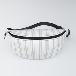 Soft Grey Mattress Ticking Wide Striped Pattern - Fall Fashion 2018 Fanny Pack