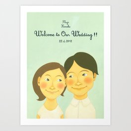 S&K Happy Wedding !! Art Print