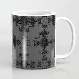 Skeleton cross. Gothic Vintage pattern. Coffee Mug