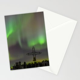 Ghostly Northern Lights Stationery Cards