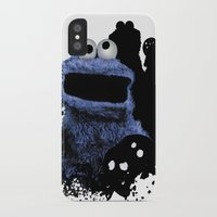 cookie monster iPhone & iPod Cases featuring Monster Madness: Cookie Monster by SB Art Productions