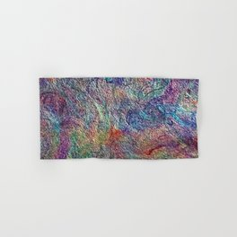 Japanese Handcrafted Dyed Paper Abstract Art Hand & Bath Towel