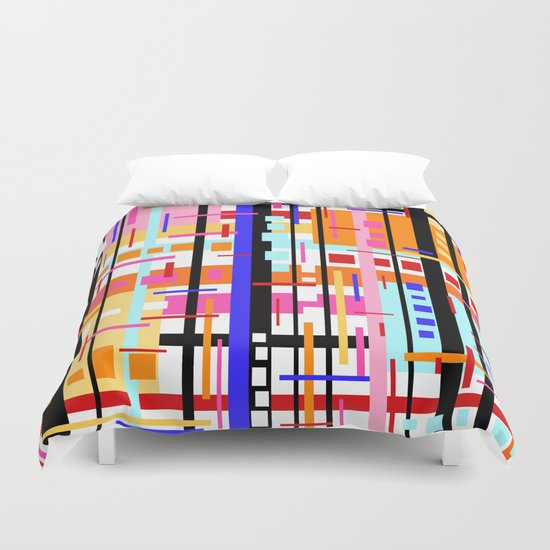 Party at Stripe's House Duvet Cover