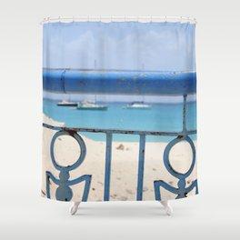 Island Metal Works Study: exhibit b Shower Curtain