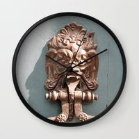 lions Wall Clocks featuring Lions Head by For the easily distracted...