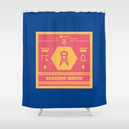 Seaking Waves 002 Shower Curtain