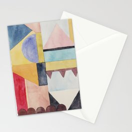 modern abstract watercolor II Stationery Cards