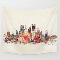 pittsburgh Wall Tapestries featuring pittsburgh  by bri.buckley
