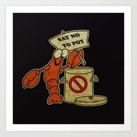 lobster Art Prints featuring Lobster by Barbo's Art