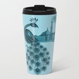 Blue peacock oriental dream Metal Travel Mug