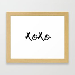 XOXO monochrome Framed Art Print