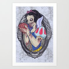 Zombie Snow White 2 Art Print