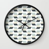 scandinavian Wall Clocks featuring Scandinavian by Pencil Studio