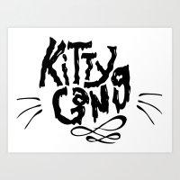KITTY CAT GANG Art Print