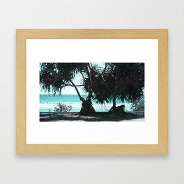 a day at the Beach 9 Framed Art Print
