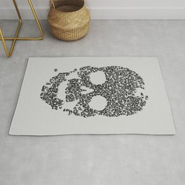 Panda is Cool (Grey) Rug
