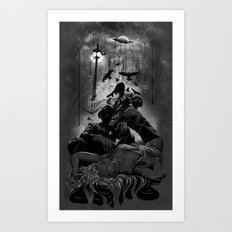 When the Moon Bleeds Art Print