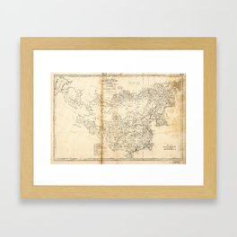 Map of China Chinese-Tartary & Tibet (1834) Framed Art Print