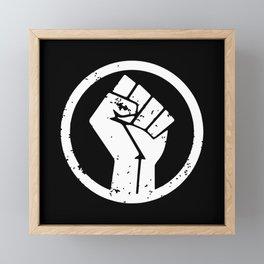 Black Lives Matter BLM Fist Anti Trump Framed Mini Art Print
