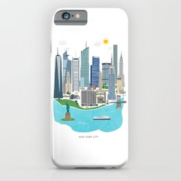 New York City Illustration iPhone Case