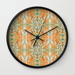 Humming Bird Orange Wall Clock