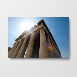 Temple of Hephaestus Metal Print