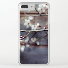 Plum and Mocha Clear iPhone Case