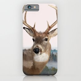 Whitetail Deer Double Exposure iPhone Case