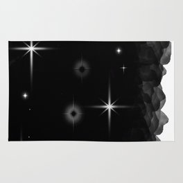 Starlight Starbright In The Night Galaxy Rug
