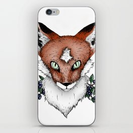 Fox with Blueberries iPhone Skin