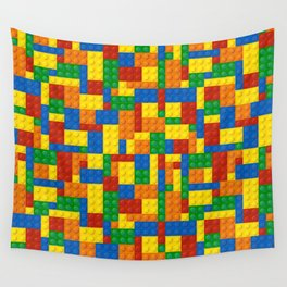 Colored Building Blocks Wall Tapestry