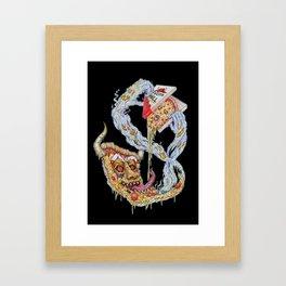 Death To False Pizza! Framed Art Print