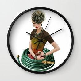 Green Garden by Lenka Laskoradova Wall Clock
