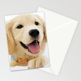 Golden Retriever Pup Stationery Cards