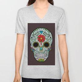Colorful Skull III Unisex V-Neck