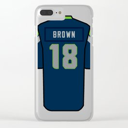 Jaron Brown Jersey Clear iPhone Case