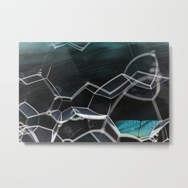 Abstract Bubbles Metal Print