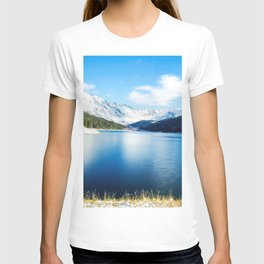 Clinton Gulch // Day Light Mountain Lake Forest Snow Peak Landscape Photography Hiking Decor T-shirt