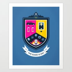 The Game is On! - blue version Art Print