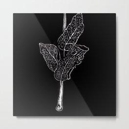 Wood cut leaves Metal Print