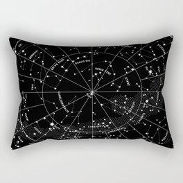 Constellation Map - Black & White Rectangular Pillow
