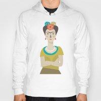 frida Hoodies featuring Frida by Judy Kaufmann