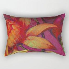 """Retro Giant Floral Pattern"" Rectangular Pillow"