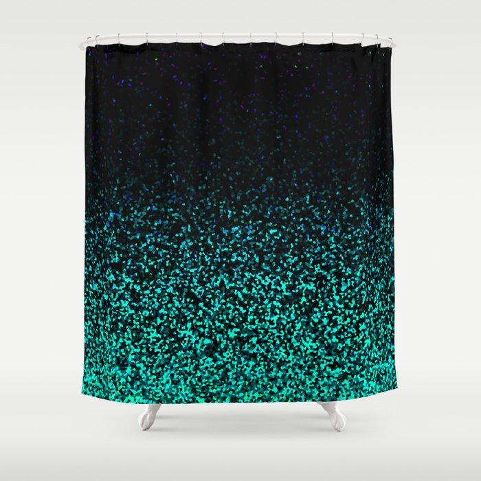 Mint Sparkle Shower Curtain By Mstudio