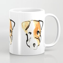 Black Ink and Watercolor Jack Russell Terrier Dog Coffee Mug