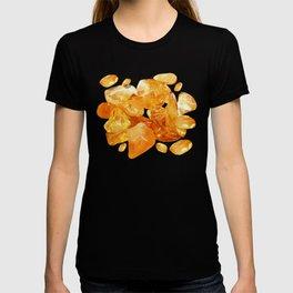 """Amber Quartz Solar Orange Crystal Opal Gem Stone"" T-shirt"