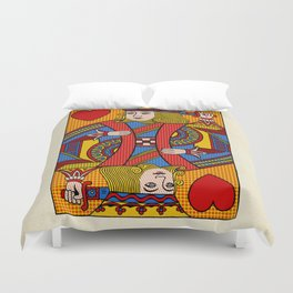 King of Hearts Duvet Cover