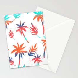 Palm Tree Summer Vibes and Leaf Print Stationery Cards