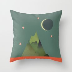 Mountains Under the Stars Throw Pillow