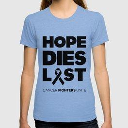 Hope Dies Last Black Print T-shirt